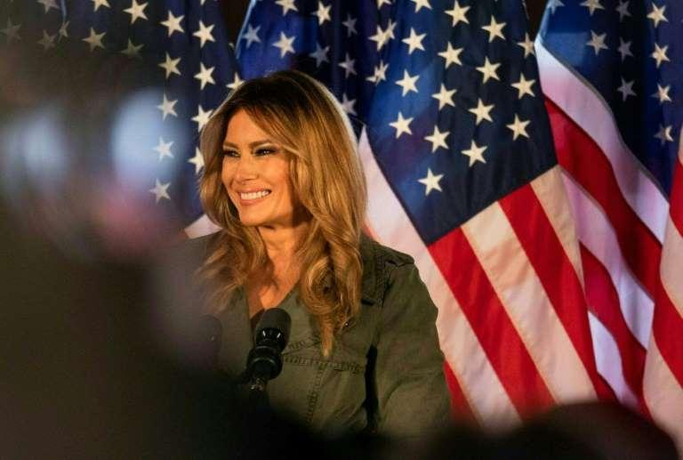 Premier meeting de campagne, en solo, pour Melania Trump