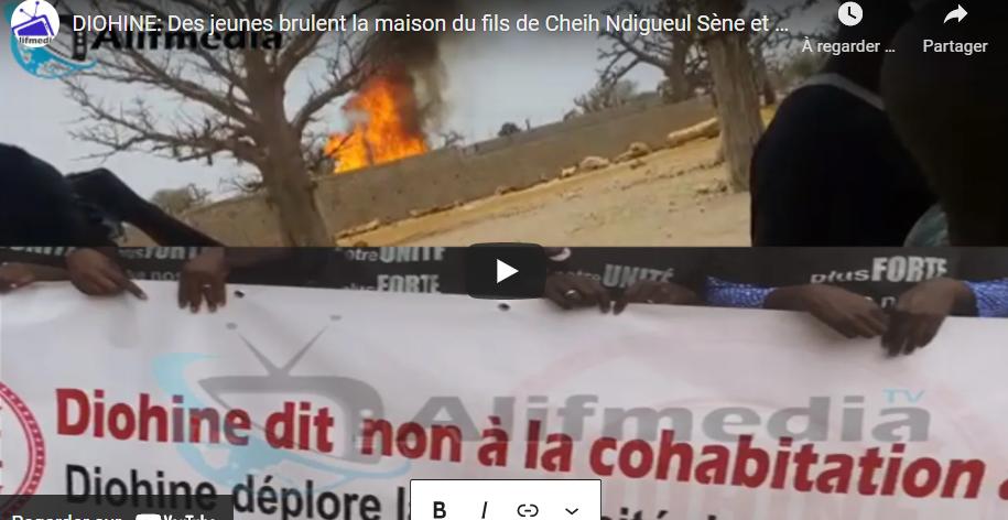 Diohine: Les jeunes brulent la maison de Serigne Bara Séne