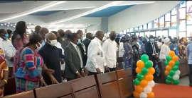 Laurent Gbagbo à la cathédrale Saint-Paul d'Abidjan-Plateau