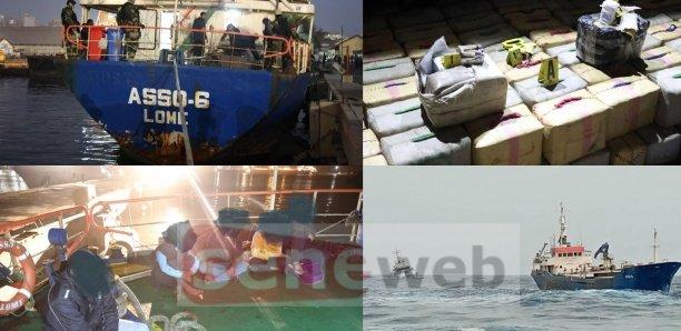 Un navire intercepté avec 8 tonnes de haschisch, 4 personnes arrêtées