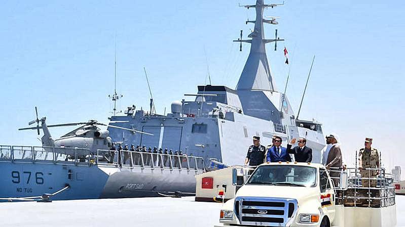 L'Egypte inaugure une base navale en Méditerranée